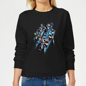 Sweat-shirt Avengers: Endgame Logo Team - Femme - Noir
