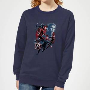 Sweat-shirt Avengers: Endgame Shield Team - Femme - Bleu Marine