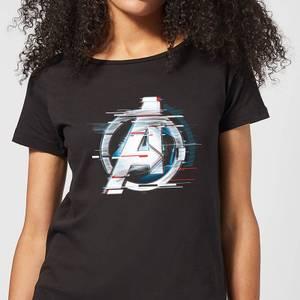 Avengers: Endgame White Logo Women's T-Shirt - Black