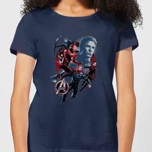 T-Shirt Avengers: Endgame Shield Team - Navy - Donna