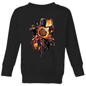 Avengers: Endgame Explosion Team Kids' Sweatshirt - Black
