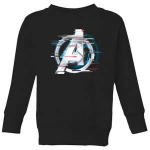 Avengers: Endgame White Logo Kids' Sweatshirt - Black