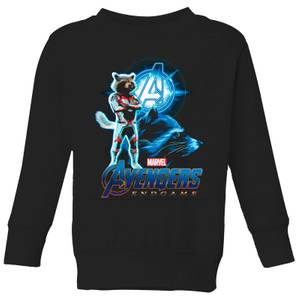 Sweat-shirt Avengers: Endgame Rocket Suit - Enfant - Noir
