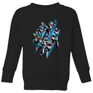 Avengers: Endgame Logo Team Kids' Sweatshirt - Black