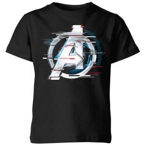 T-shirt Avengers: Endgame Logo Blanc - Enfant - Noir