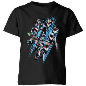Avengers: Endgame Logo Team Kids' T-Shirt - Black