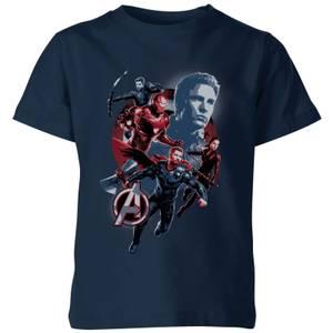 Avengers: Endgame Shield Team Kids' T-Shirt - Navy