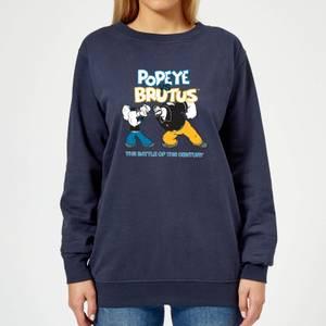 Popeye Popeye Vs Brutus Women's Sweatshirt - Navy