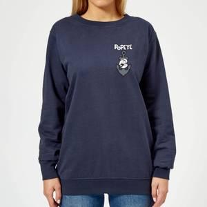 Popeye Anchor Women's Sweatshirt - Navy