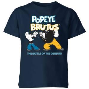 Popeye Popeye Vs Brutus Kids' T-Shirt - Navy