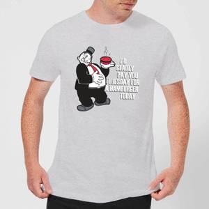 Popeye Hamburger Men's T-Shirt - Grey