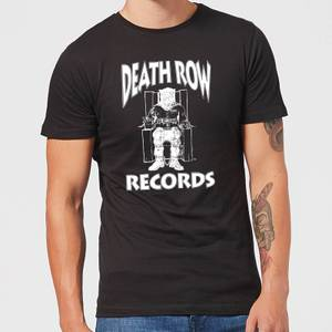 Death Row Records Logo White Men's T-Shirt - Black
