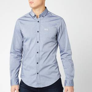 BOSS Men's Biado Shirt - Mid Blue