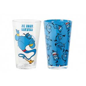 Funko Homeware Disney Aladdin At Your Service Pint Glass Set
