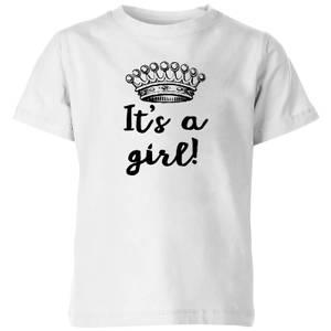 It's A Girl Kids' T-Shirt - White