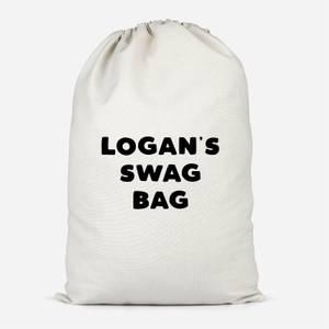 Boy's Named Swag Cotton Storage Bag