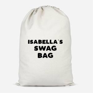 Girl's Named Swag Cotton Storage Bag