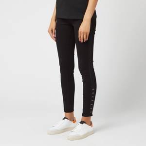 HUGO Women's Lou Skinny Fit Metal Tabs Jeans - Black