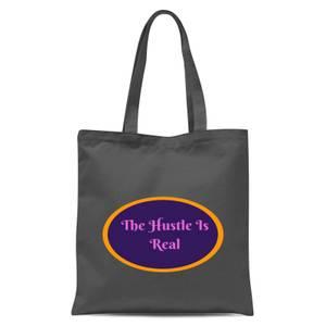 Lanre Retro The Hustle Is Real Tote Bag - Grey