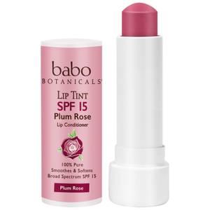 Babo Botanicals SPF15 Tinted Lip Conditioner - Plum Rose 0.15oz