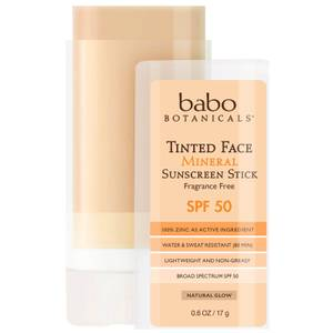 Babo Botanicals SPF50 Tinted Face Mineral Fragrance Free Sunscreen Stick 0.6oz