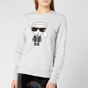 Karl Lagerfeld Women's Ikonik Karl Sweatshirt - Grey Melange