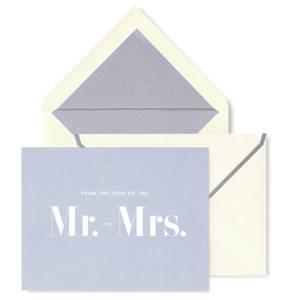 Kate Spade Mr and Mrs Notecard Set