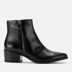 Vagabond Women's Marja Leather Heeled Ankle Boots - Black