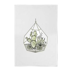 Succulent Terrarium Cotton Tea Towel