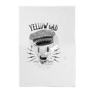 Yellow Cab Hyena Cotton Tea Towel