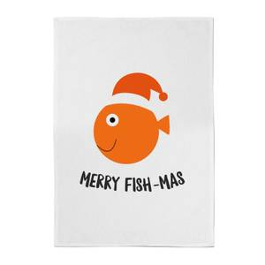 Merry Fish-Mas Cotton Tea Towel