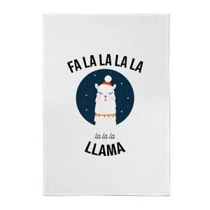 Fa La La La Llama Cotton Tea Towel