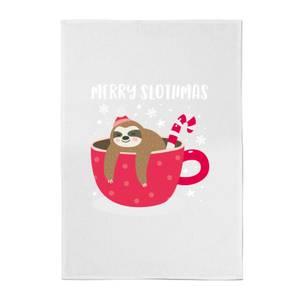 Merry Slothmas Cotton Tea Towel