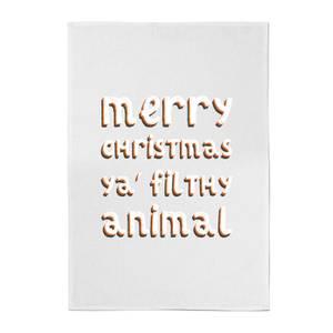 Merry Christmas Ya' Filthy Animal Cotton Tea Towel