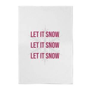 Let It Snow Cotton Tea Towel