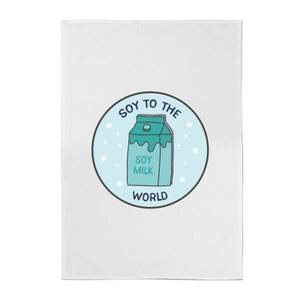 Soy To The World Cotton Tea Towel
