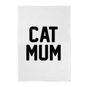 Cat Mum Cotton Tea Towel