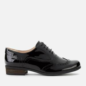 Clarks Women's Hamble Patent Brogues - Black