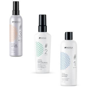 INDOLA Innova Hydrate Shampoo / Repair Split−Ends Serum /Salt Spray