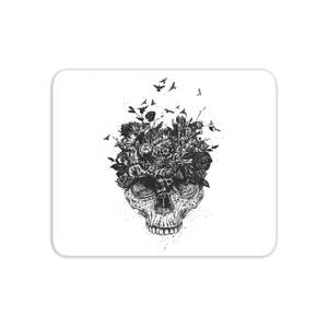 Skulls And Flowers Mouse Mat
