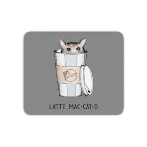Latte Mac-Cat-O Mouse Mat