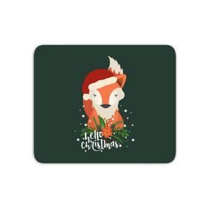 Christmas Fox Hello Christmas Mouse Mat