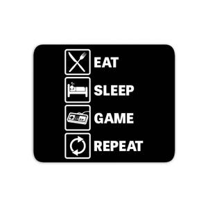 Eat Sleep Game Repeat Mouse Mat