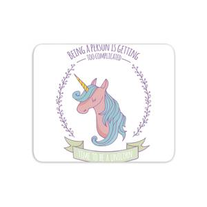 Time To Be A Unicorn Mouse Mat
