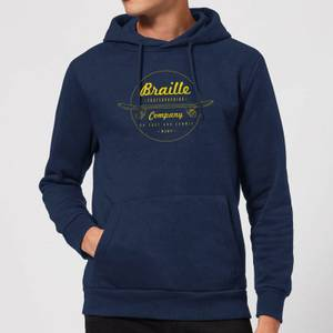 Limited Edition Braille Skate Company Hoodie - Navy