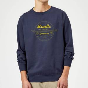 Limited Edition Braille Skate Company Sweatshirt - Navy