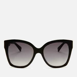 Gucci Women's Large Square Frame Sunglasses - Black/Gold