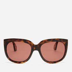Gucci Women's Injection Visor Sunglasses - Havana/Brown