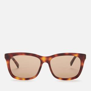 Gucci Men's Rectangle Frame Acetate Sunglasses - Havana/Gold