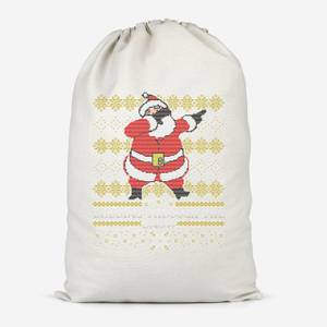 Dabbing Through The Snow Fair Isle Cotton Storage Bag